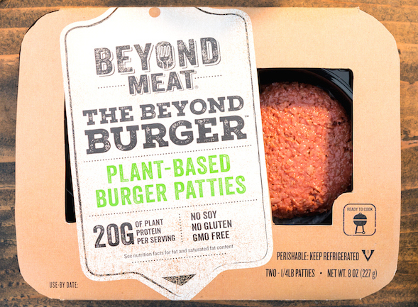 beyond burger package with veg surround