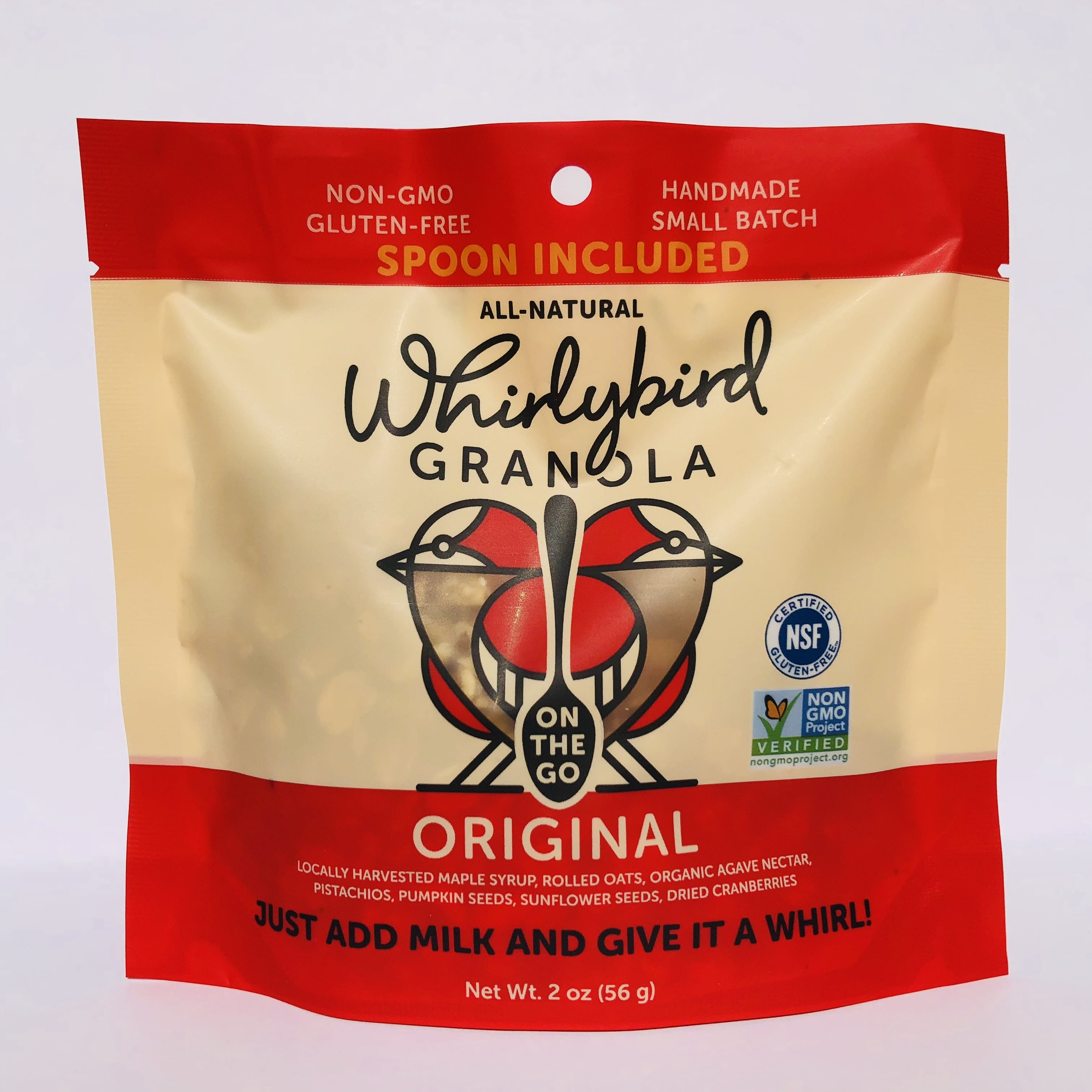 Whirlybird Granola Debuts Packaging for On-The-Go Consumer