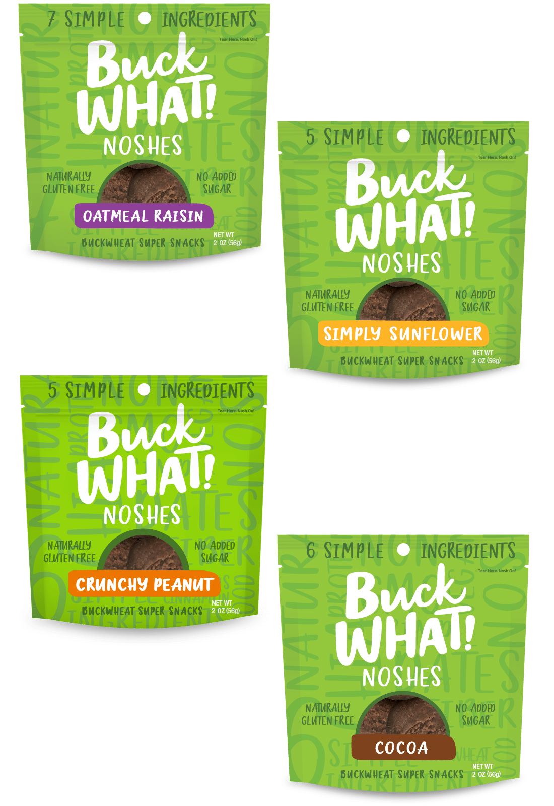BuckWHAT Debuts New Packaging and 3 Nut-Free Flavors of Noshes