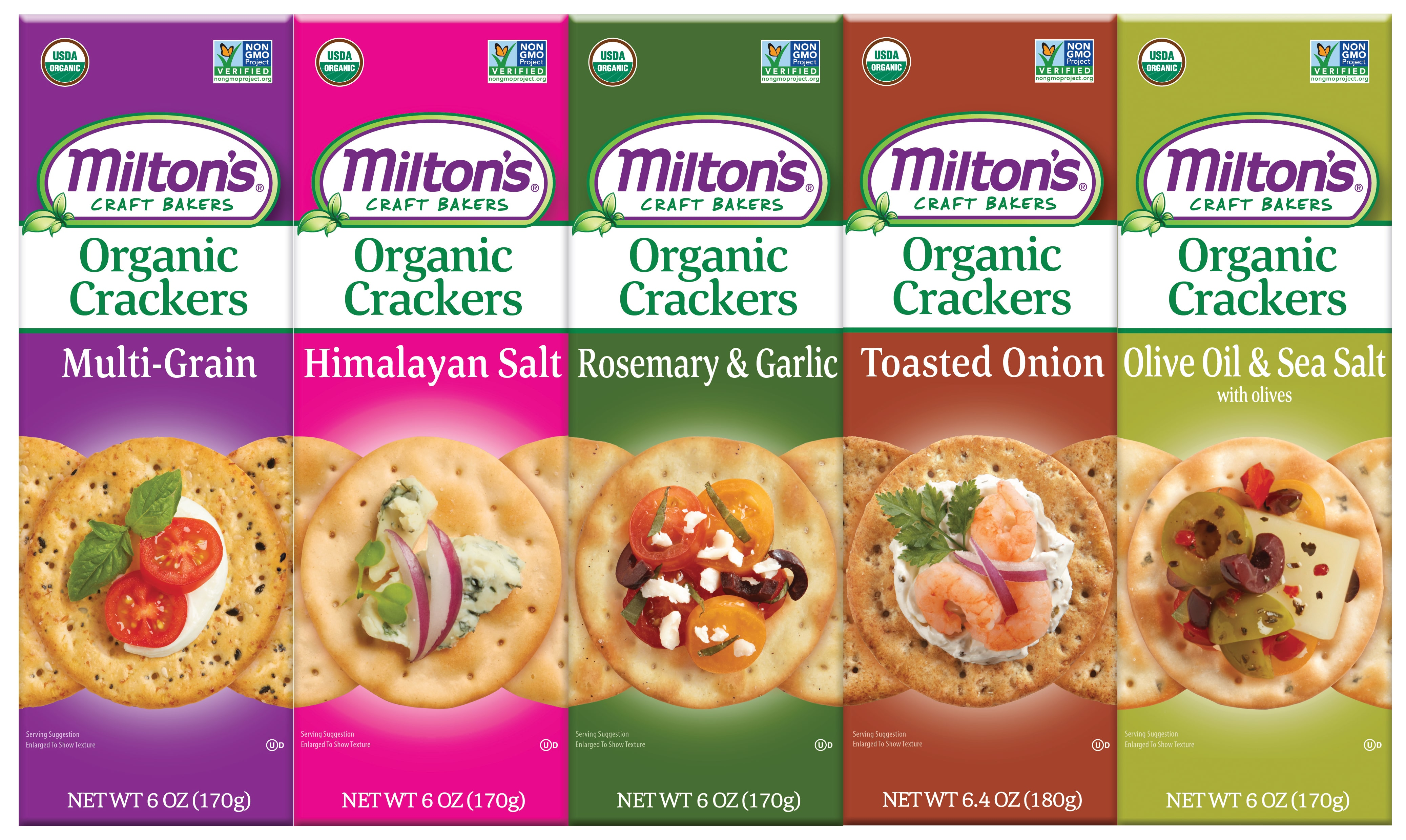 Milton's Launches Organic Gourmet Crackers Line