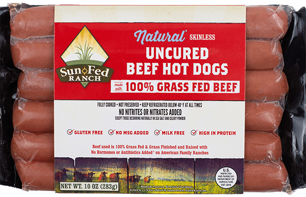 SunFed Ranch Launches Uncured Natural 100% Grass Fed Beef Hot Dogs and Sausages