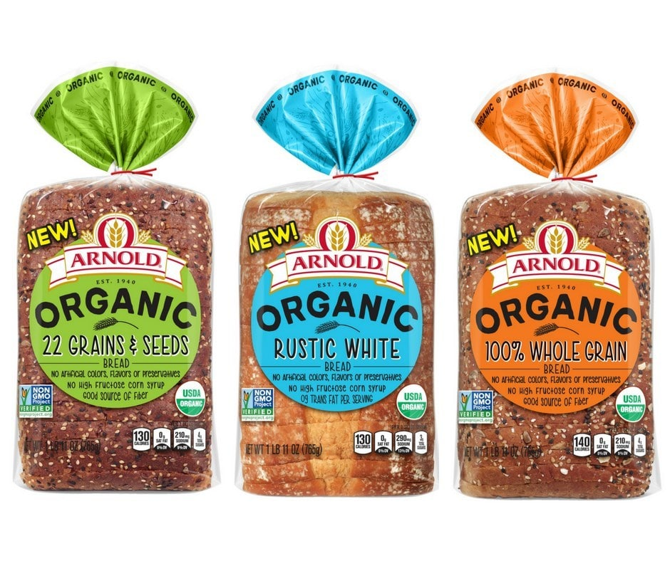 Arnold, Brownberry and Oroweat Bread Debut New Organics Line Nationwide