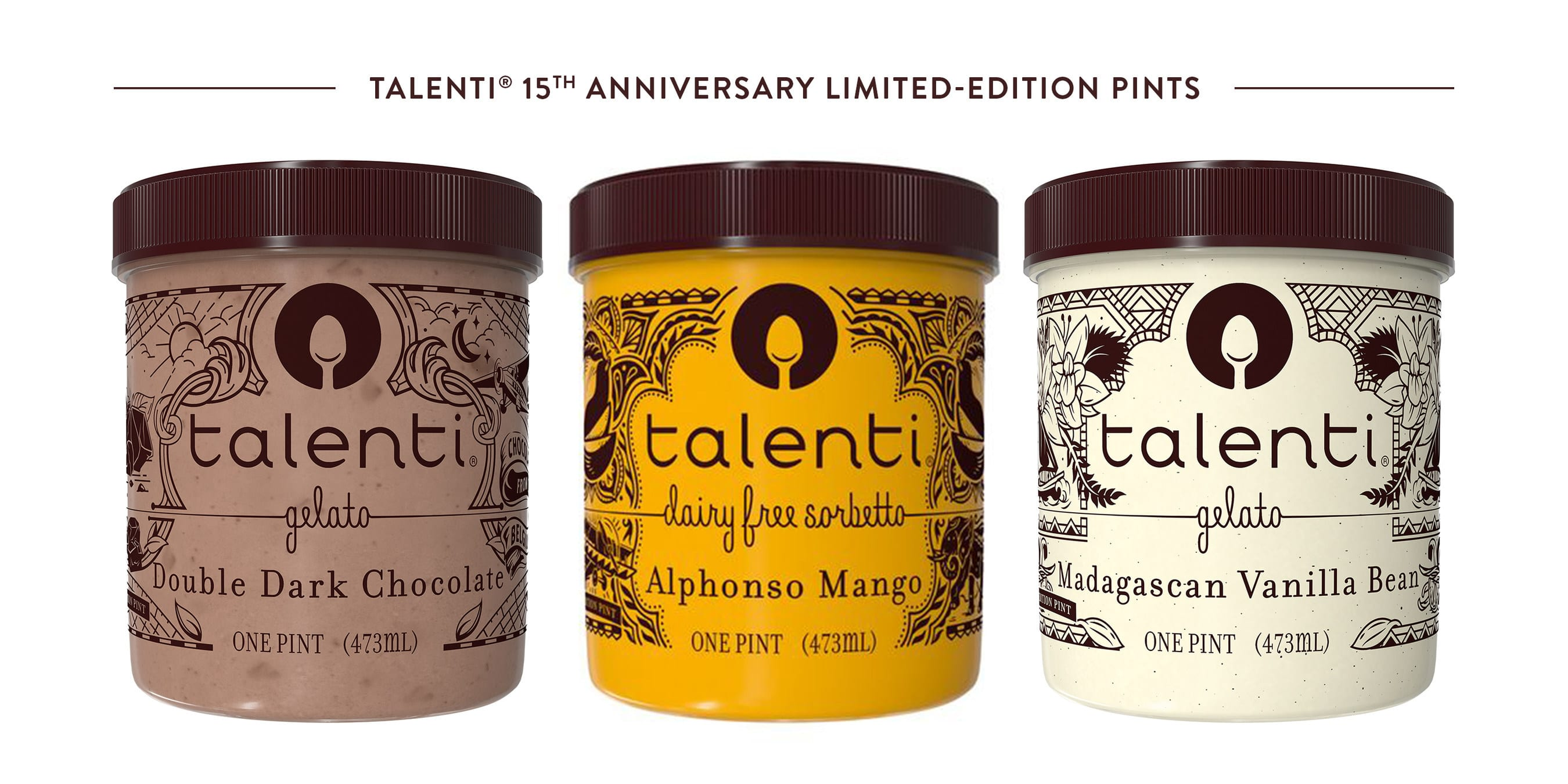 Talenti Gelato & Sorbetto Celebrates 15th Anniversary with Limited-Edition Pints