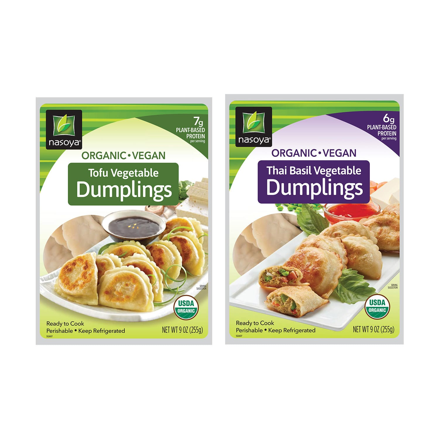 Nasoya Releases Vegan Tofu Vegetable and Thai Basil Vegetable Dumplings