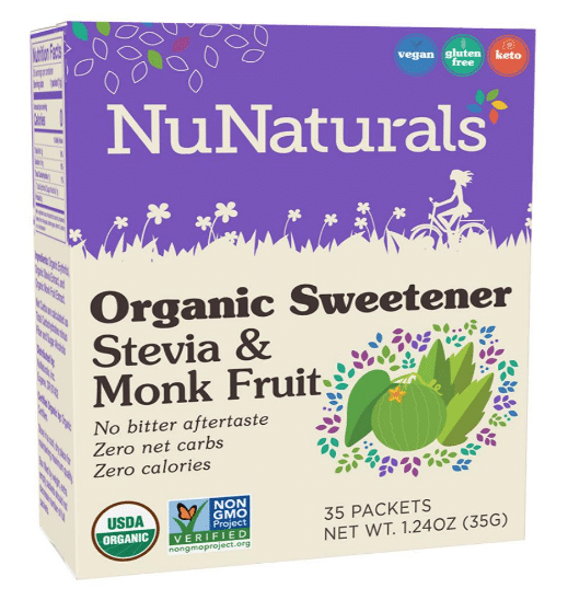 NuNaturals Launches Organic Stevia & Monk Fruit Blend