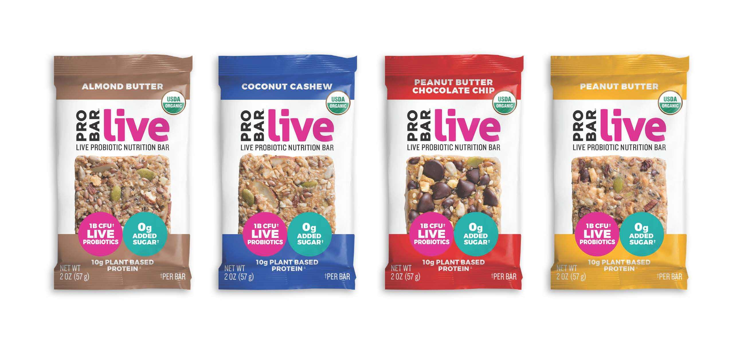 ProBar Launches Live Probiotic Nutrition Bars