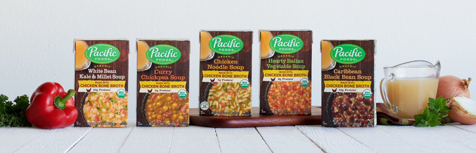 Pacific Foods Launches Soup Line with Chicken Bone Broth
