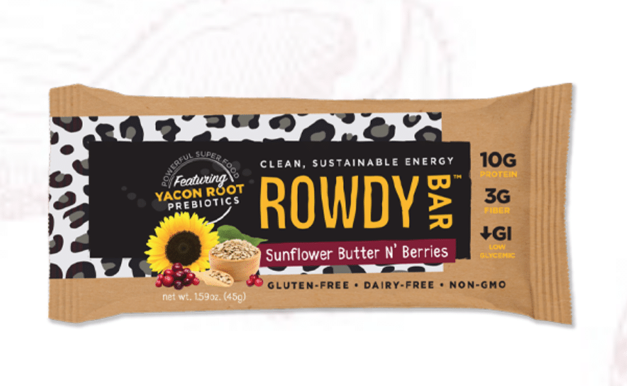Rowdy Launches Sunflower Butter N' Berries Bar