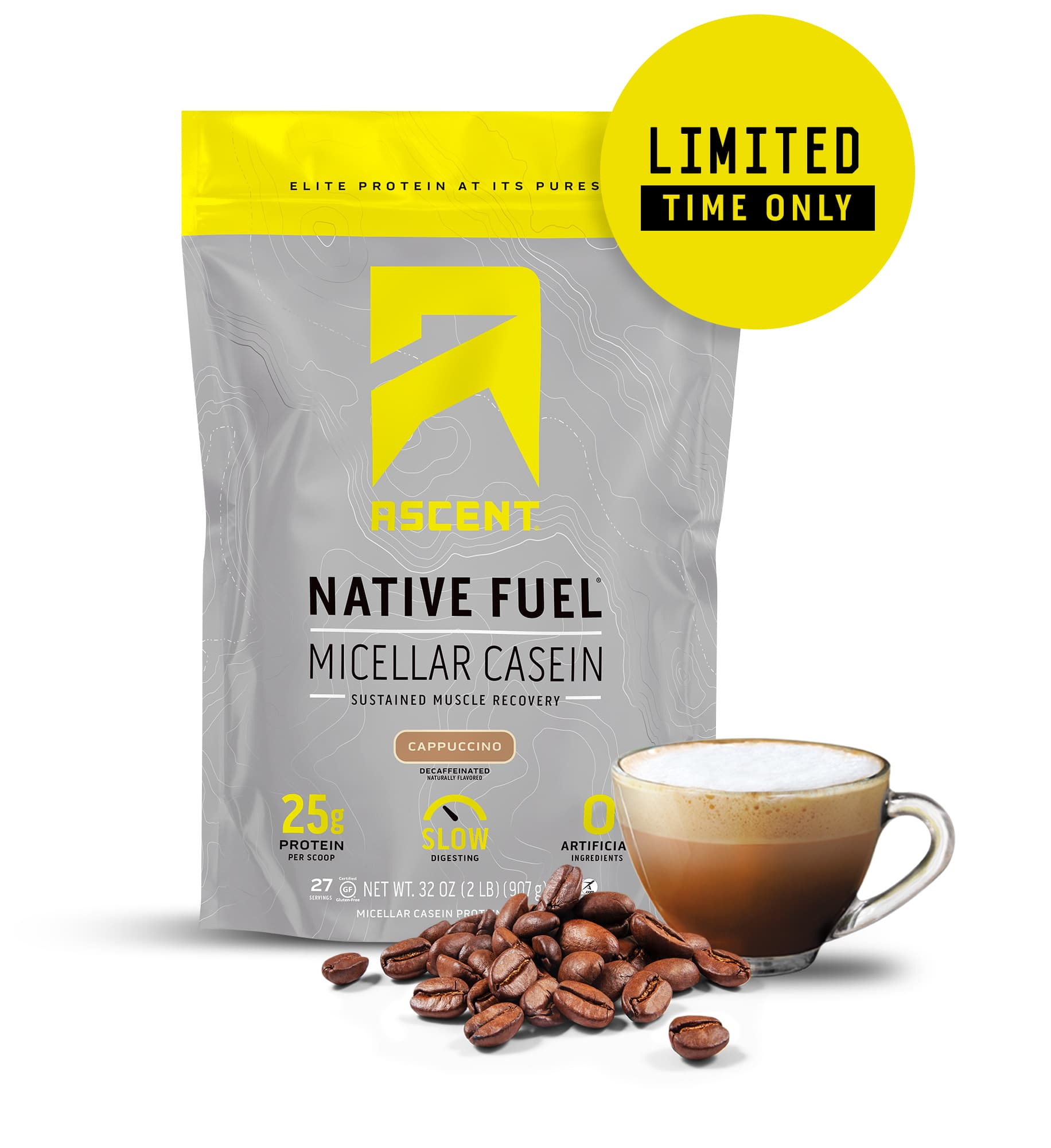 Ascent Launches Native Fuel Micellar Casein Protein Powder