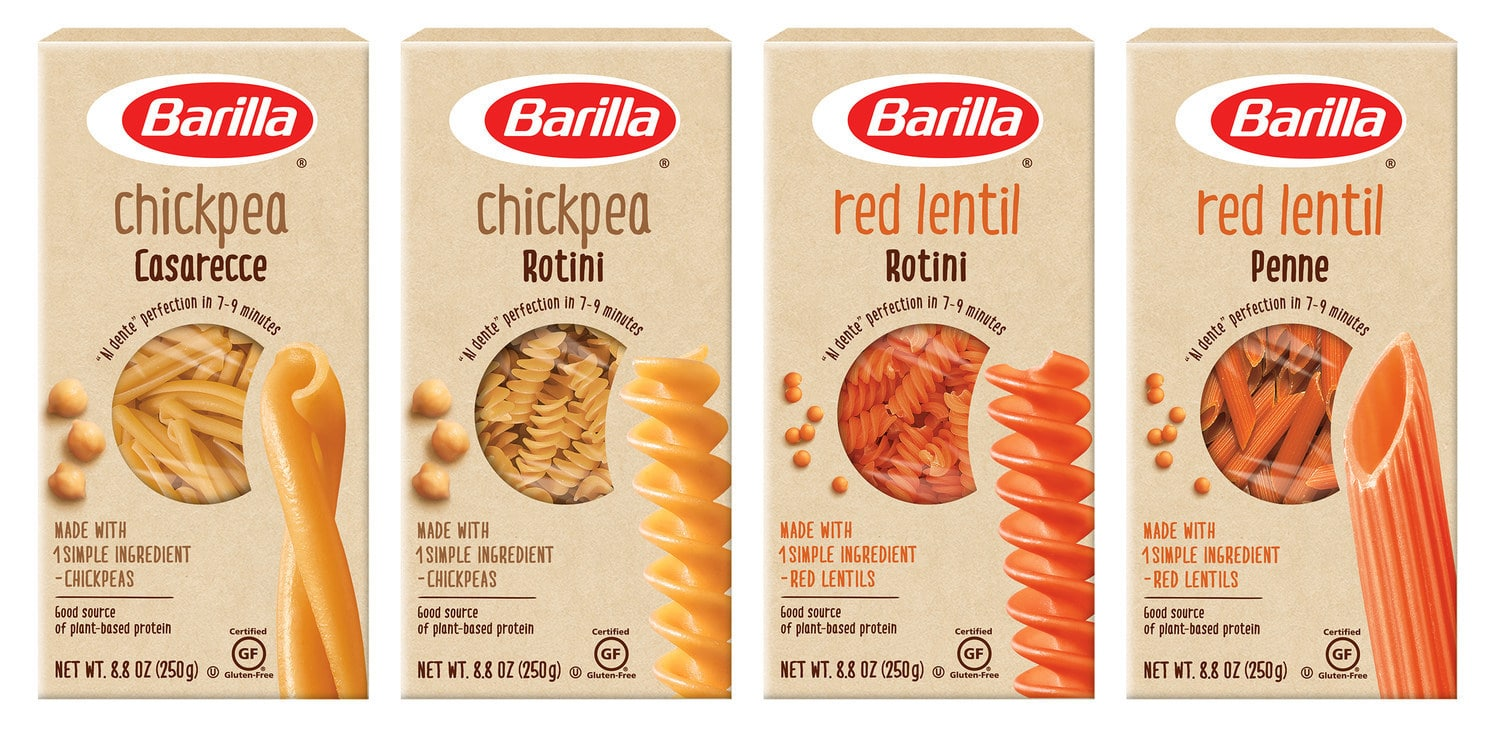 Barilla Debuts One-Ingredient Legume Pastas