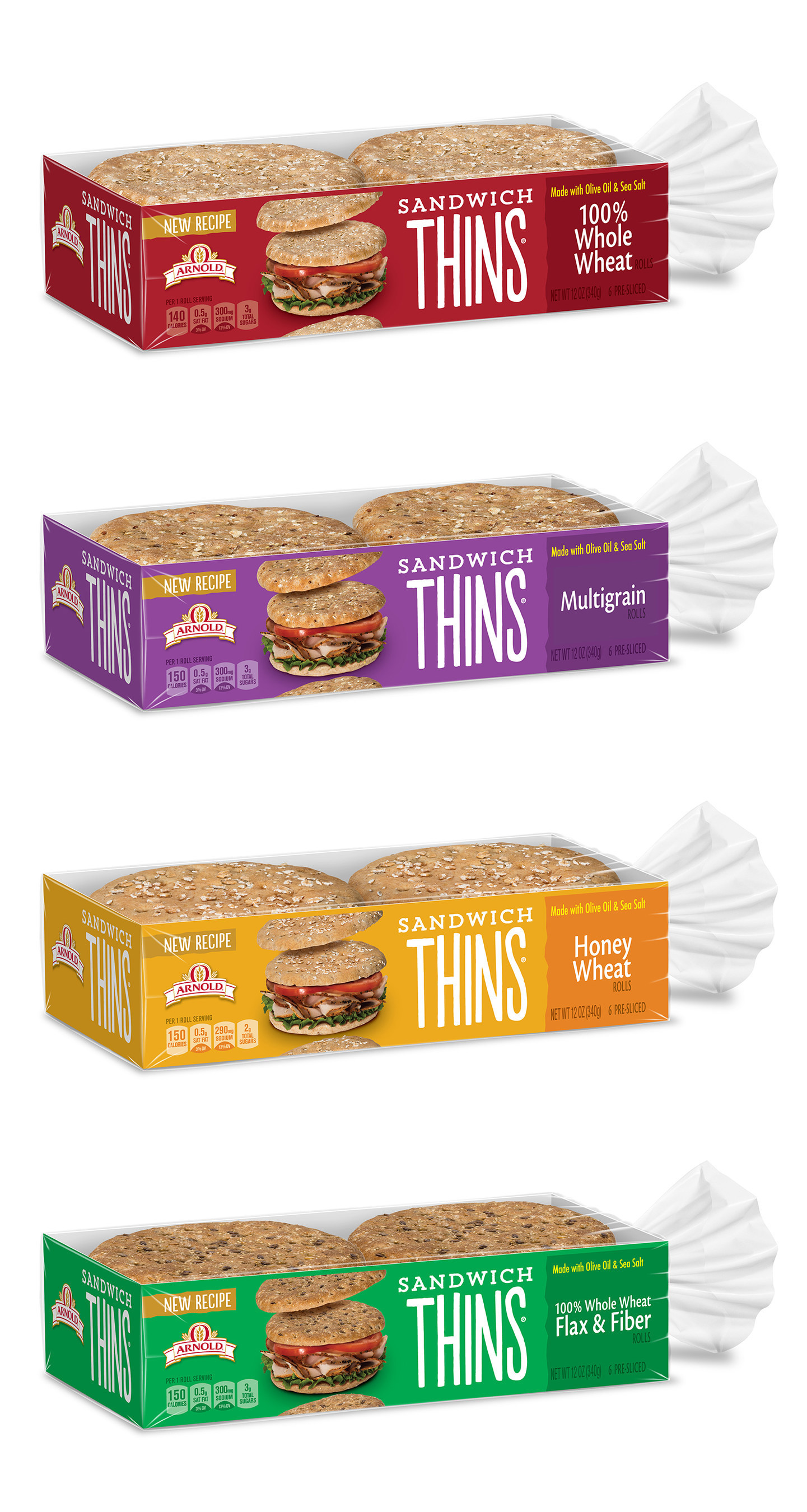 Arnold, Brownberry and Oroweat Bread Relaunch Sandwich Thins Rolls Nationwide