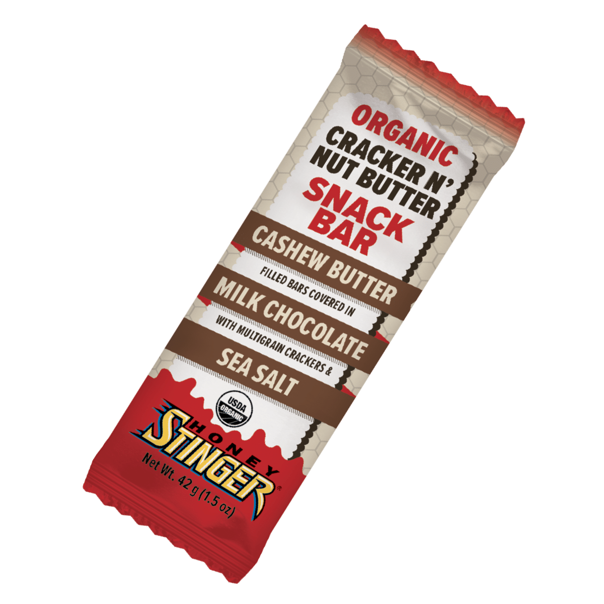 Honey Stinger Releases Cashew Butter & Milk Chocolate Cracker N' Nut Butter Snack Bar