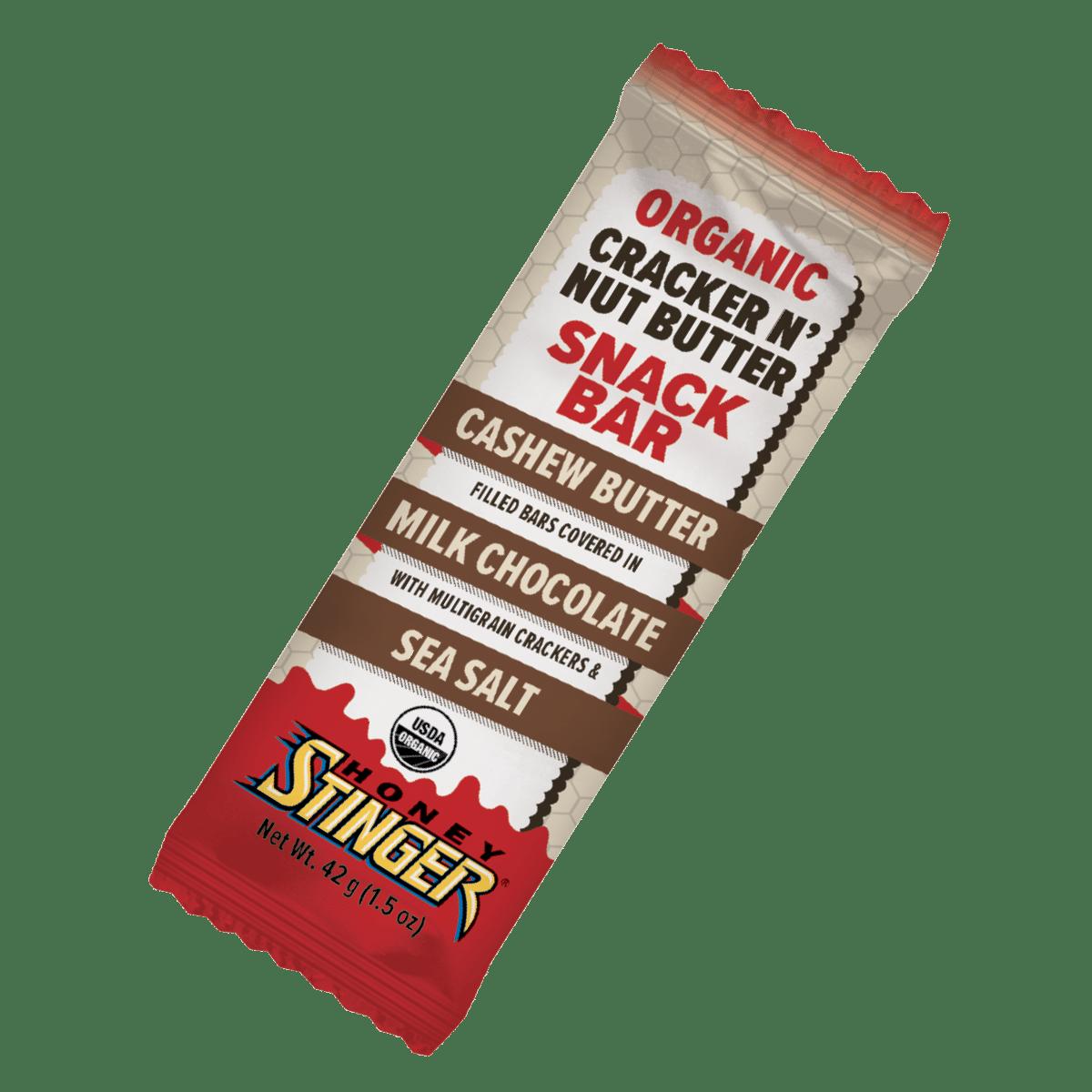 Honey Stinger Releases Cashew Butter & Milk Chocolate Cracker N' Nut Butter Snack Bar