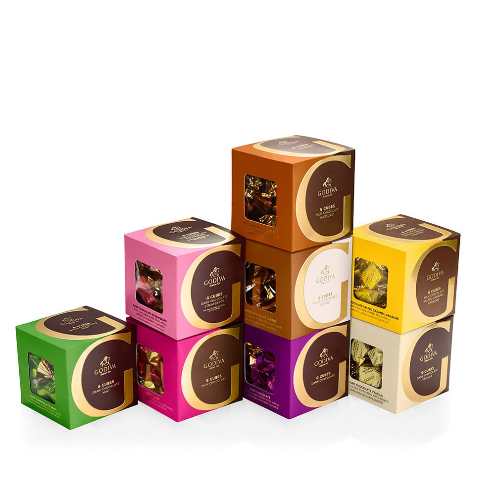 Godiva Introduces G Cubes Collection