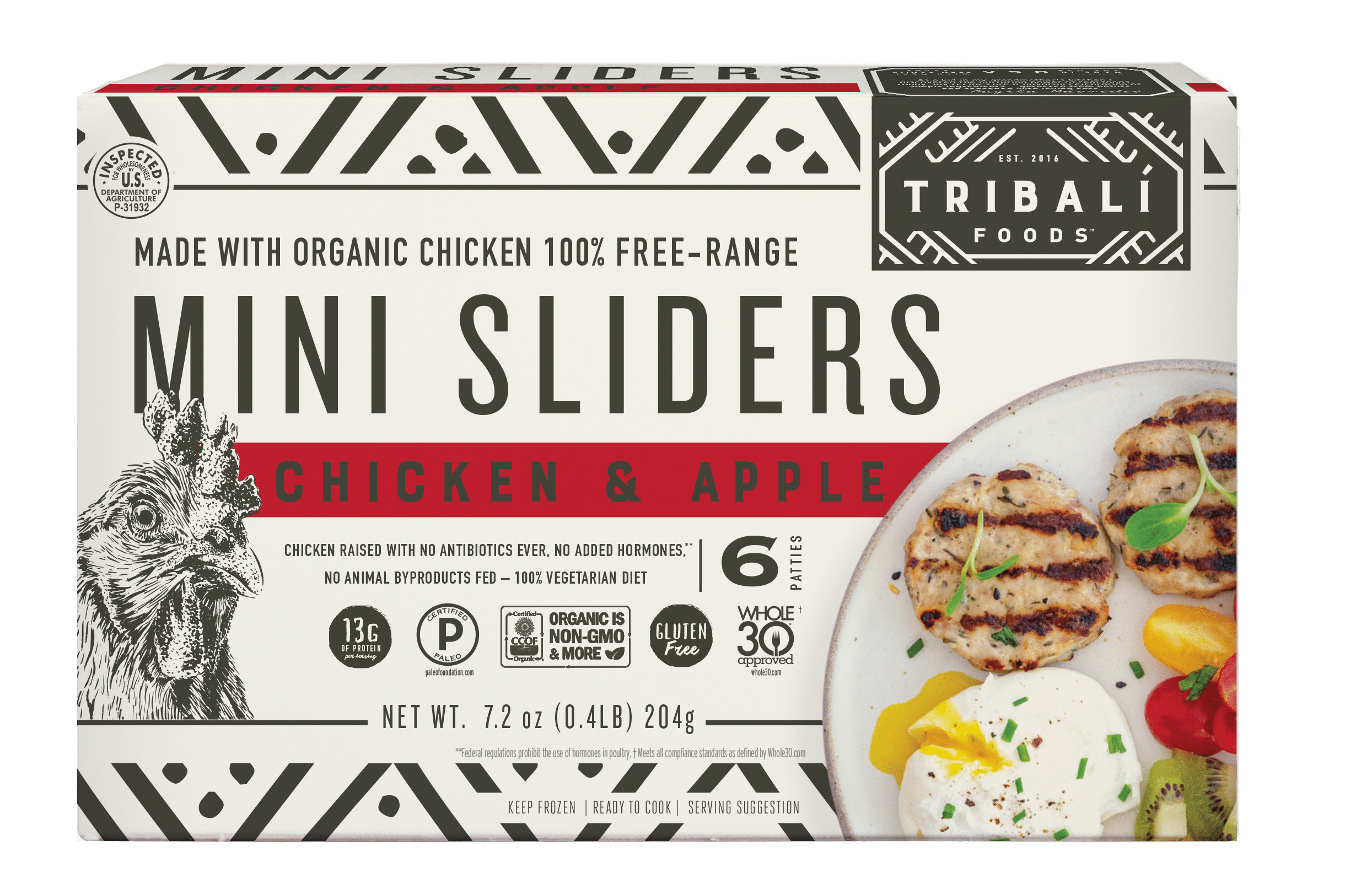 TRIBALÍ Foods Releases Chicken & Apple and Pork & Sausage Mini Sliders