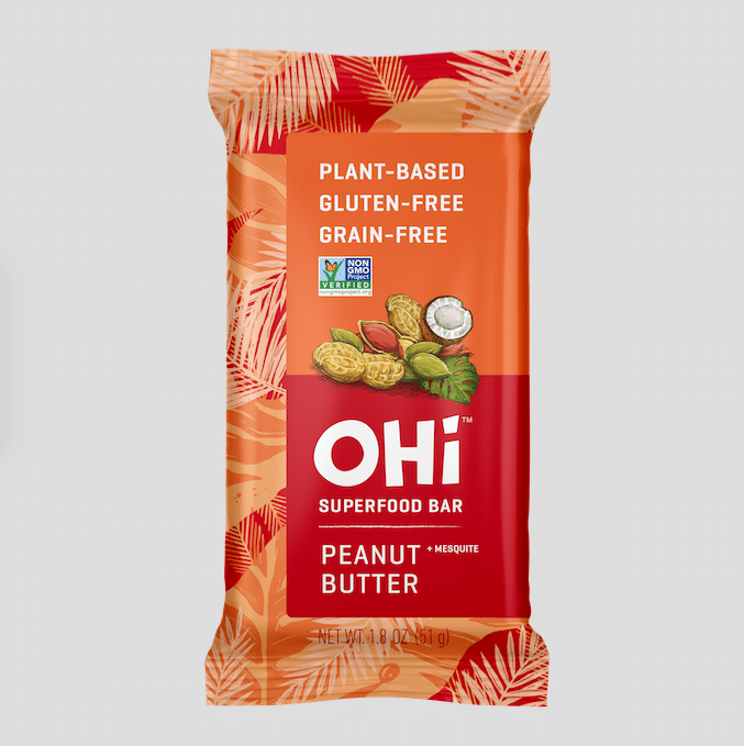 OHi Food Co. Launches Plant-Based Peanut Butter Superfood Bar