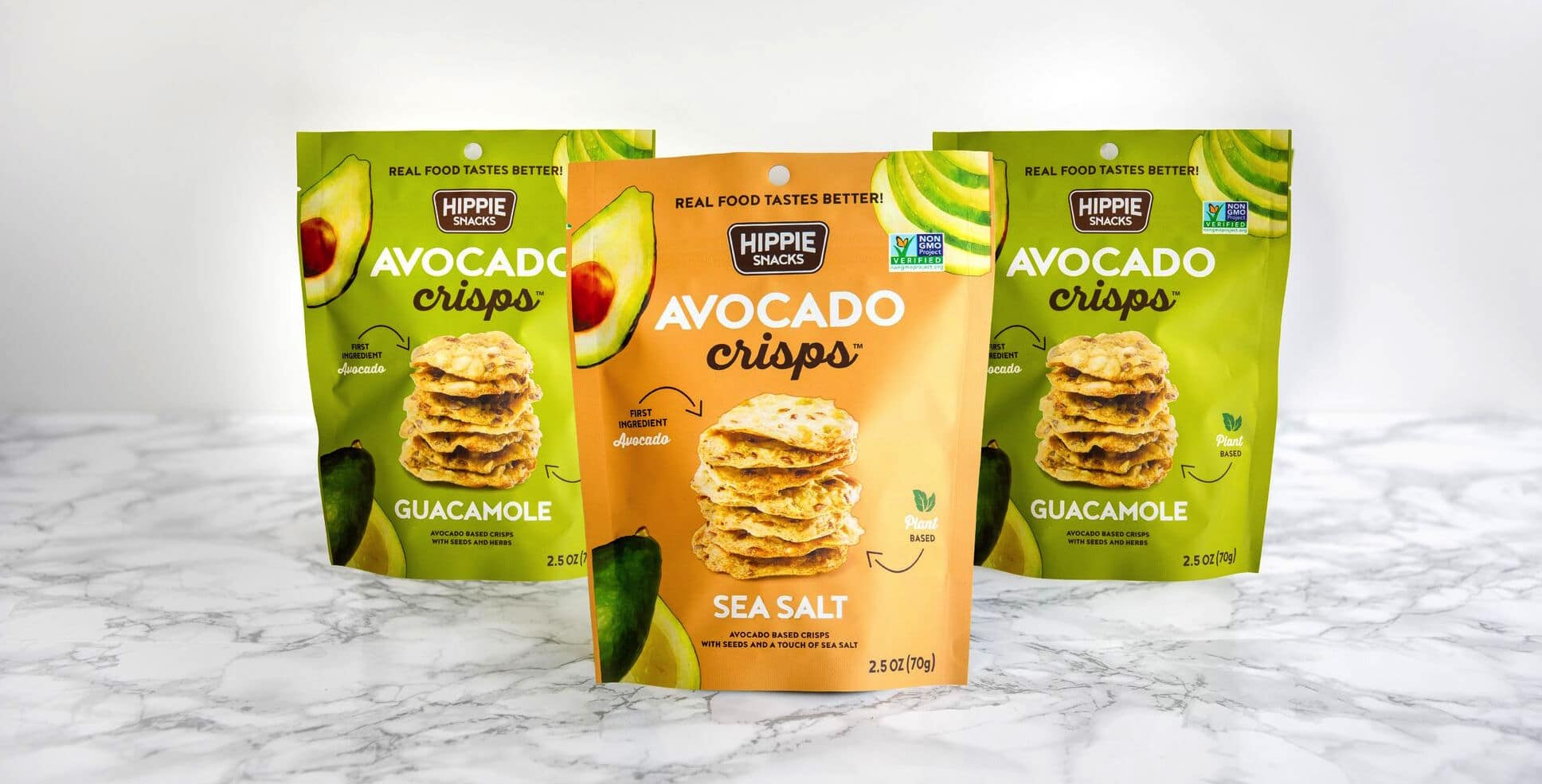 Hippie Snacks Launches New Cauliflower Crisps and Avocado Crisps