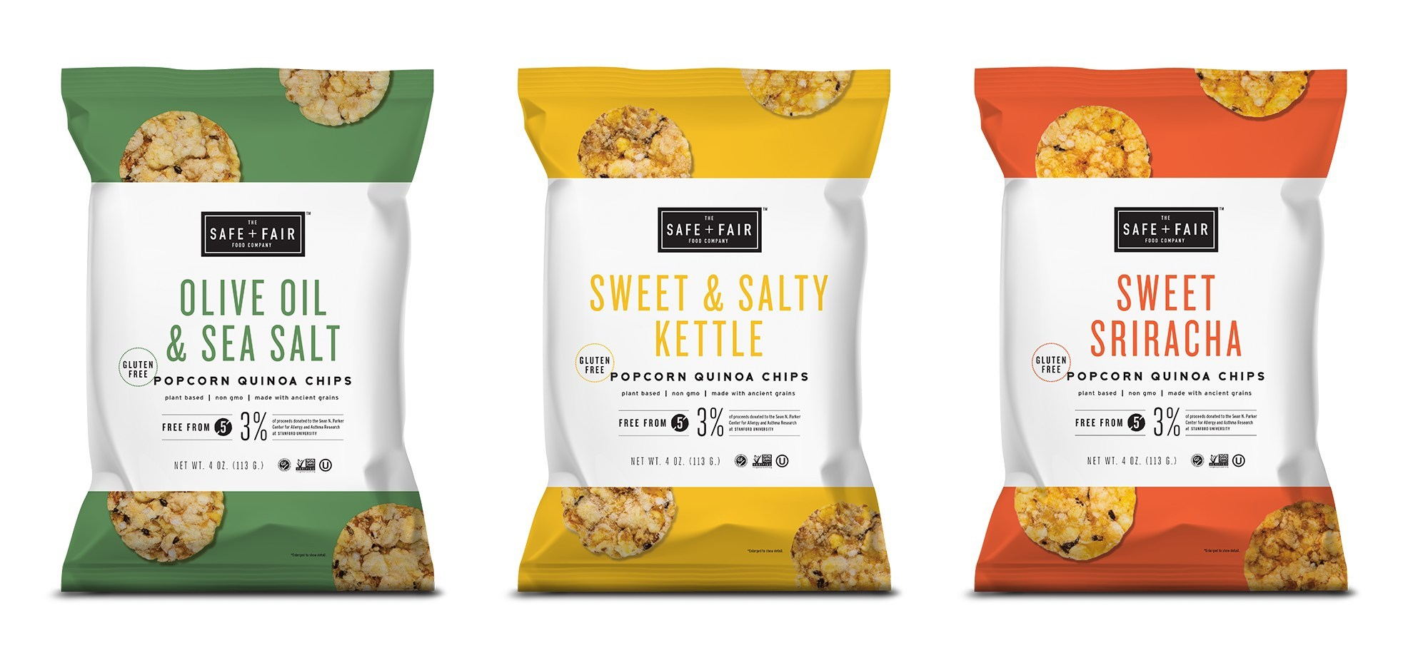 The Safe + Fair Food Company Launches New Popcorn Quinoa Chips