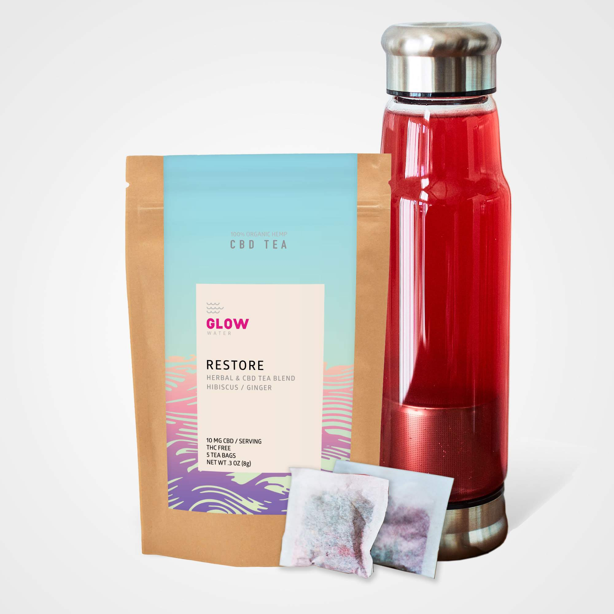 Glow Water Announces CBD Herbal Tea Line