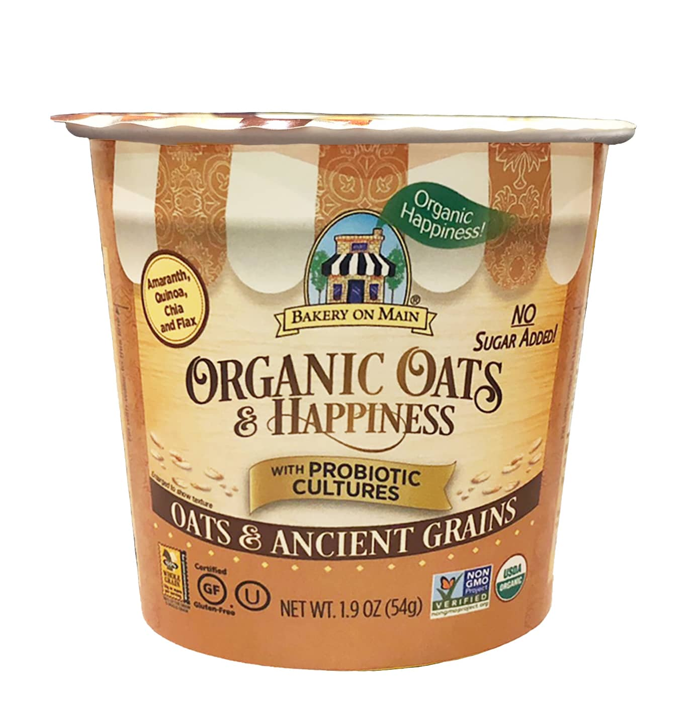 Bakery On Main Introduces Unsweetened Organic Oats & Happiness Oatmeal Cup