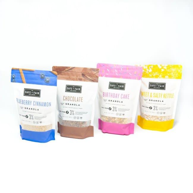 The Safe + Fair Food Company Introduces Allergy-Free Granola Line