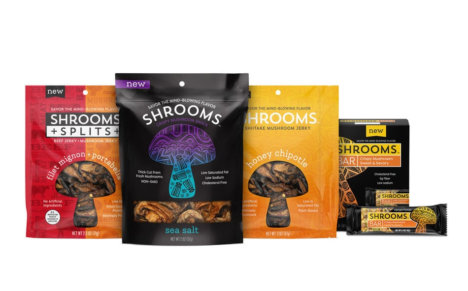 Shrooms Launches Four New Mushroom-Forward Snack Lines
