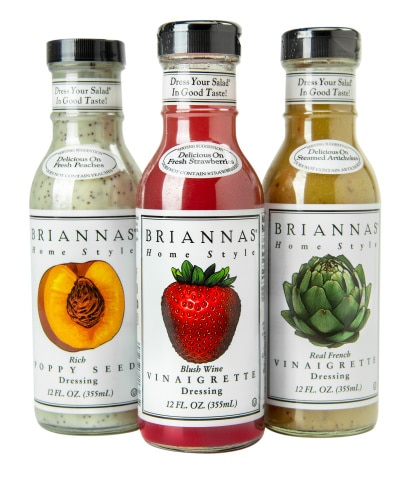 Briannas Fine Salad Dressing Unveils New Packaging