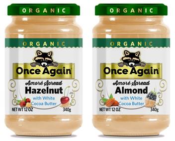 Once Again Launches White Chocolate Nut Butter