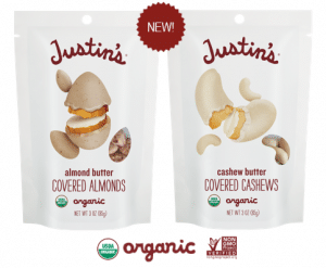 Justin's Introduces Organic Nut Butter Covered Nuts at Expo West