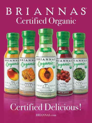 Briannas Fine Salad Dressing Introduces Organic Line of Dressings