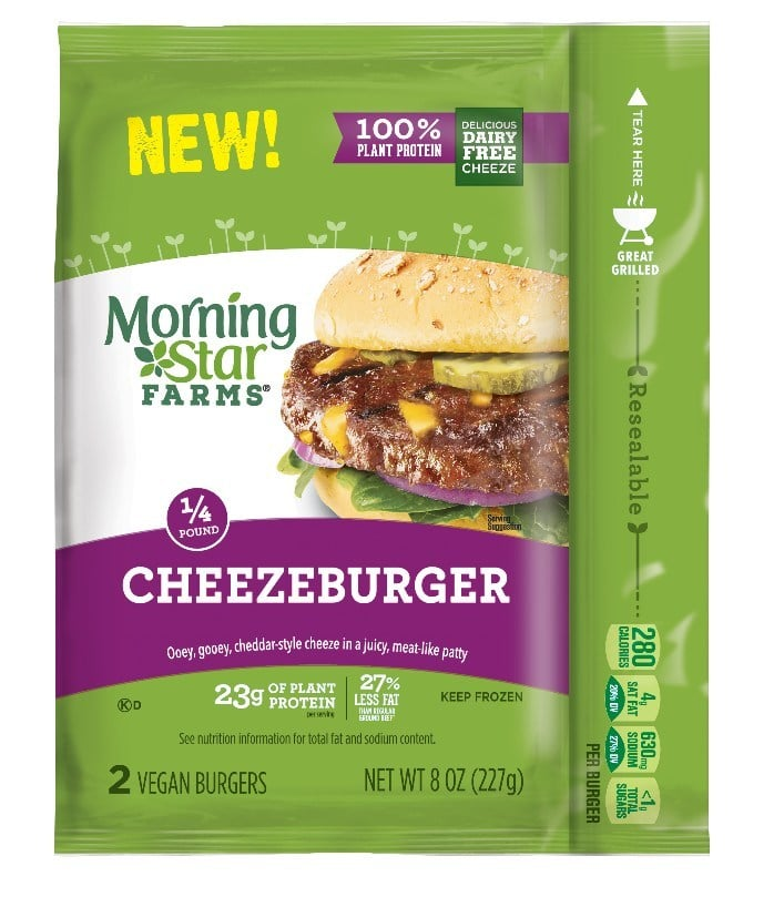 MorningStar Farms Announces 100 Percent Plant-Based Commitment, Introduces Vegan Cheezeburger