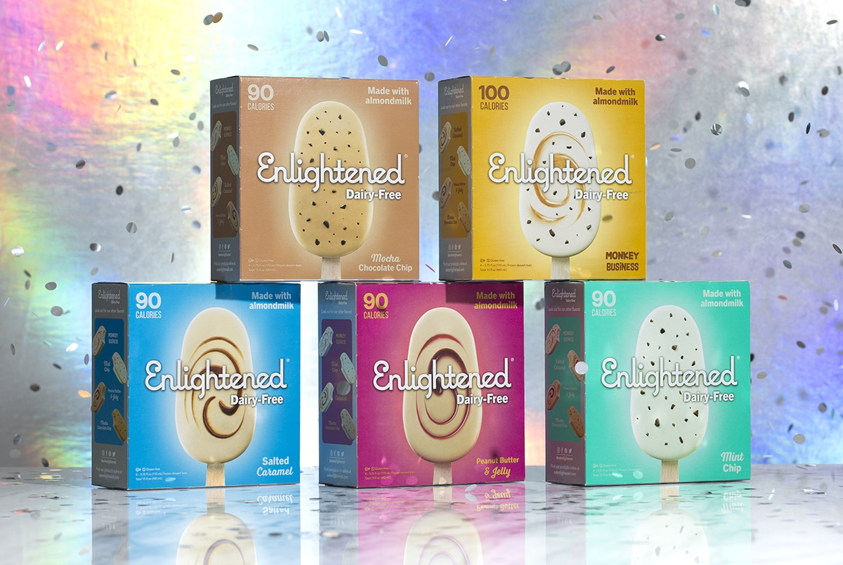 Enlightened Ice Cream Launches Dairy-Free, Low-Calorie Bars