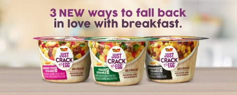 Just Crack an Egg Launches Three New Scramble Varieties