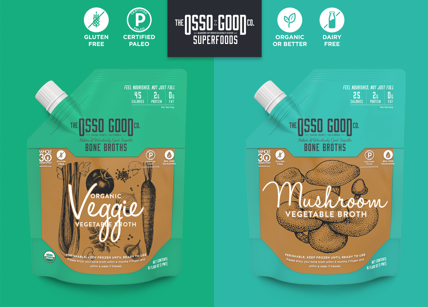 The Osso Good Company Adds Vegan Mushroom and Veggie Broths
