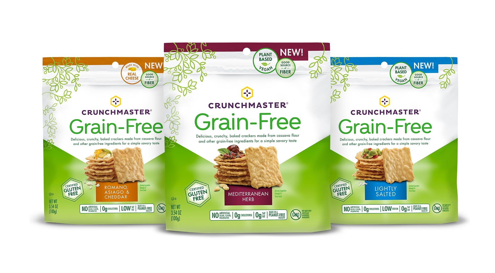 Crunchmaster Announces New Grain-Free Cracker Line