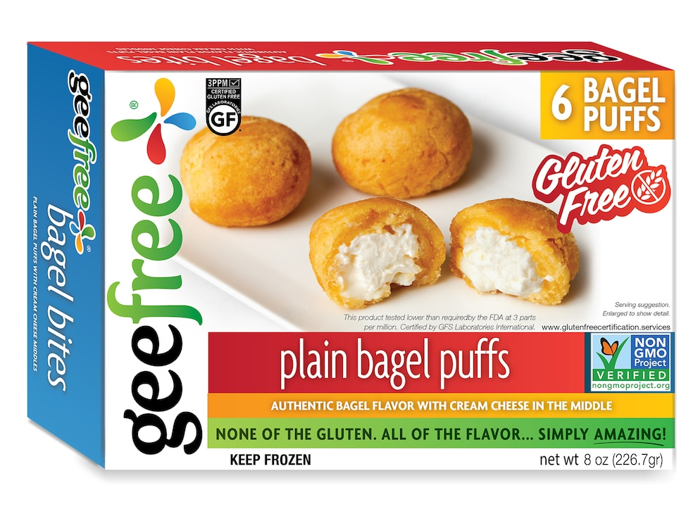 GeeFree Launches Gluten-Free Cream Cheese Filled Bagel Puffs