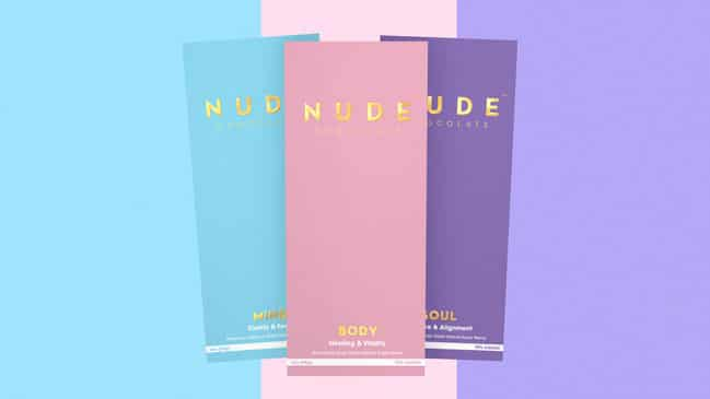 Mushroom-Enhanced Dark Chocolate Brand NUDE Chocolate Launches