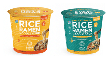 Lotus Foods Introduces Rice Ramen Noodle Soup Cups with Freeze-Dried Veggie Soup Cubes