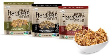 Flackers Toasted Seed Crisps, Sea Salt Single Serve Packs Launch