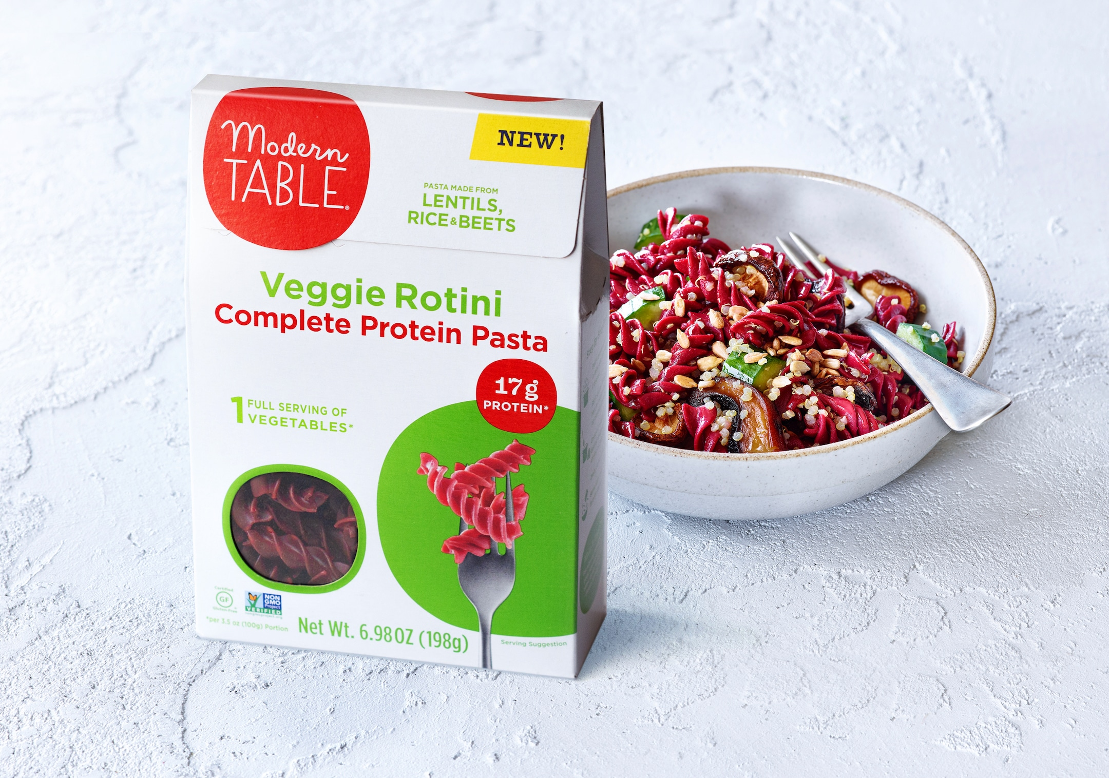Modern Table Debuts Veggie Pasta Line with Beet Rotini Launch
