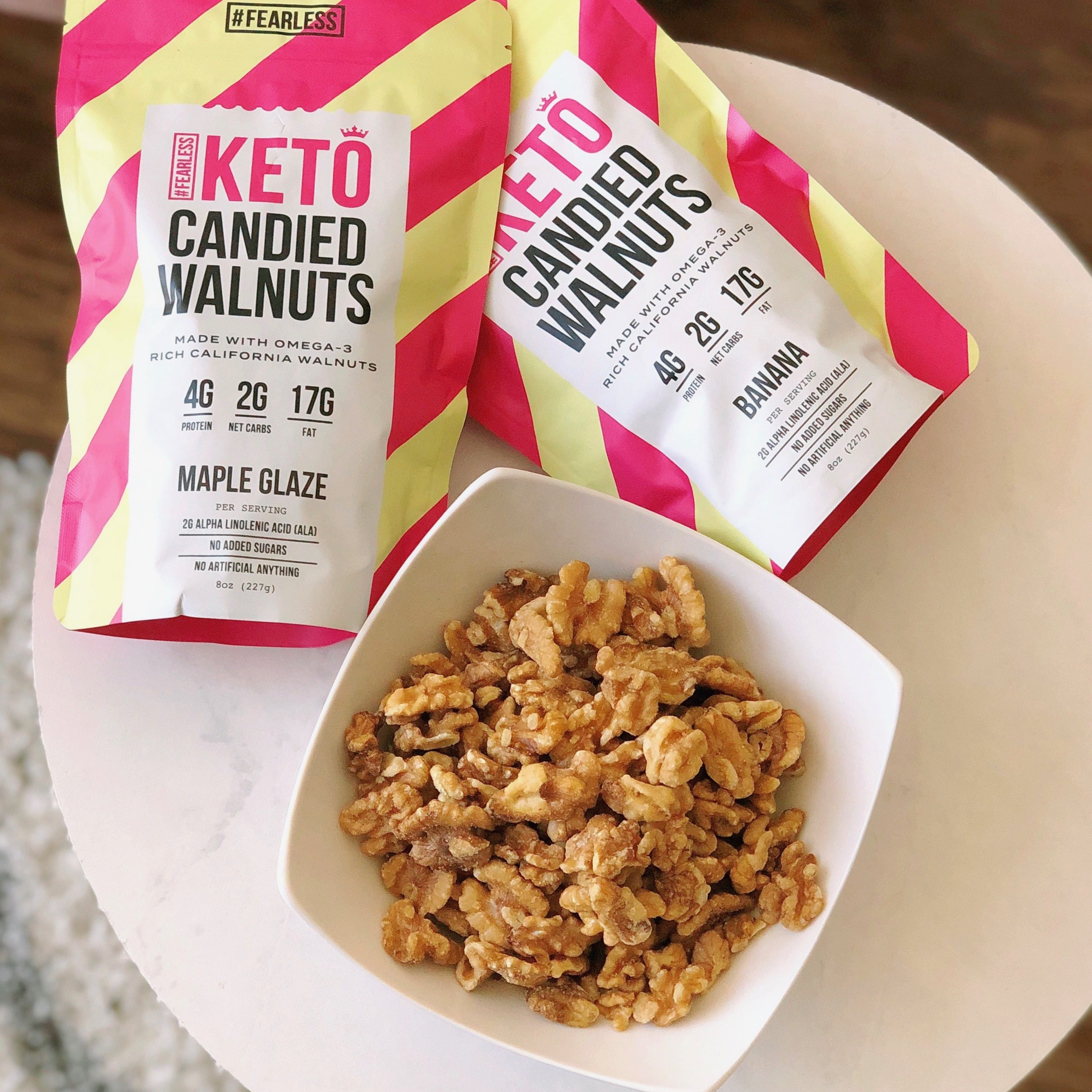 Fearless Keto Launches Keto-Friendly Candied Walnuts and Pancake & Muffin Mix