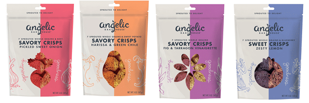 Angelic Bakehouse Unveils Line of Sweet and Savory Sprouted Crisps