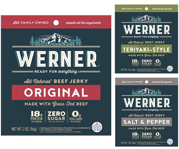 Werner Gourmet Meat Snacks Launches Zero Sugar Grass-Fed Beef Jerky