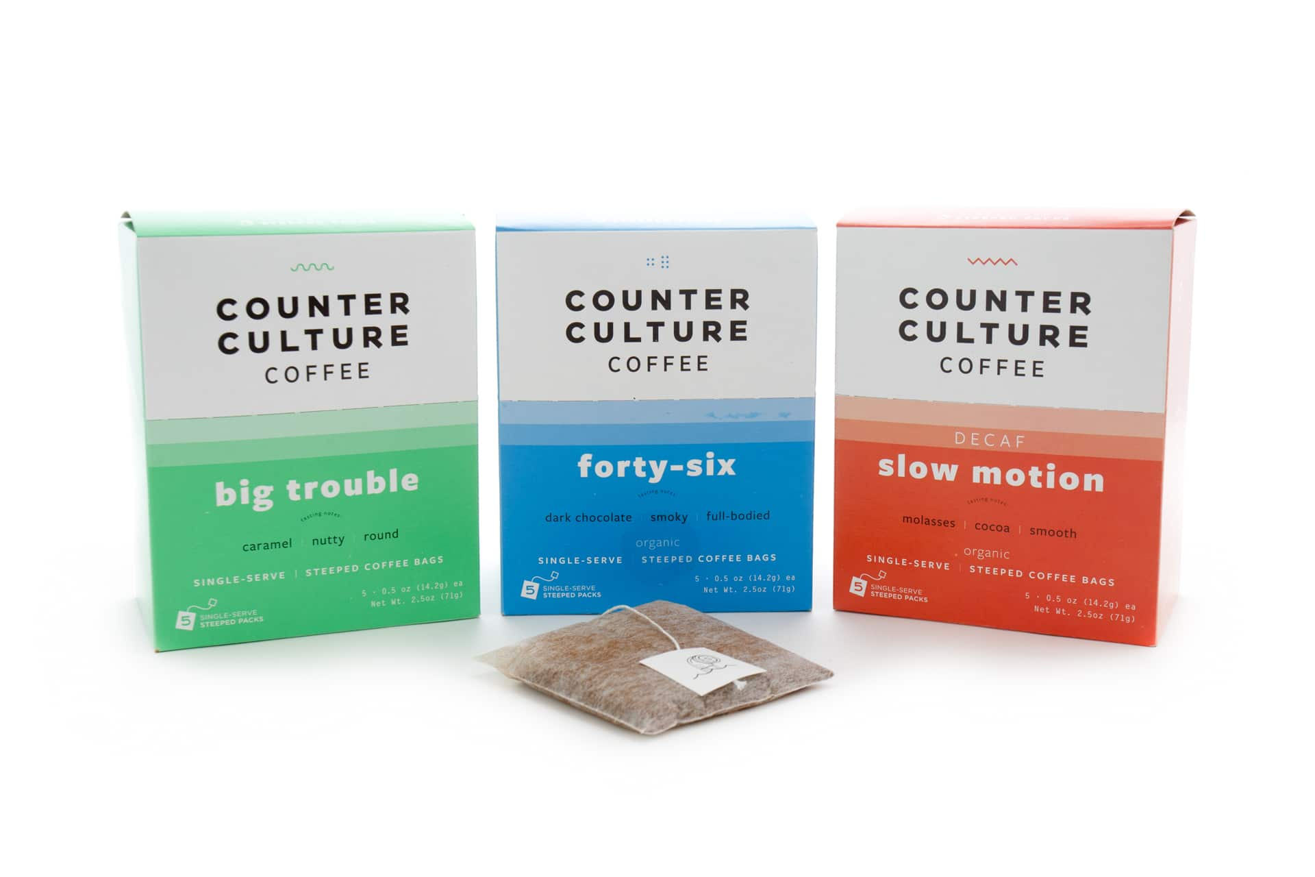 Steeped Coffee Partners with Counter Culture Coffee on Single-Serve Steeped Bags