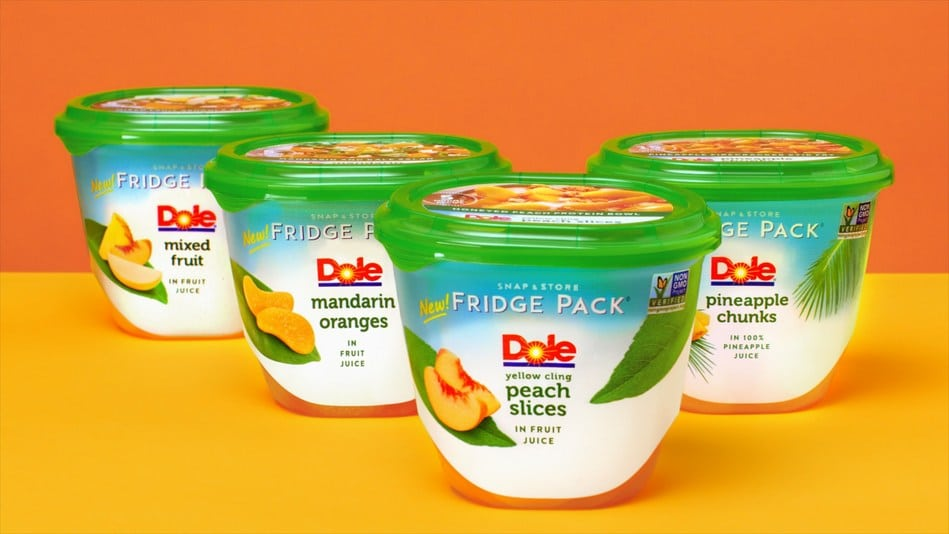 DOLE Releases New Snap and Store Fridge Packs