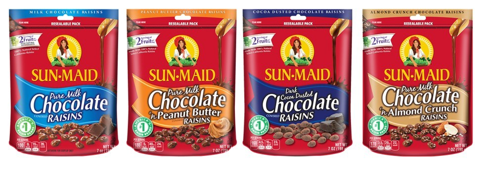 The Promotion In Motion Companies Drops Three New Sun-Maid Chocolate Raisin Mashups