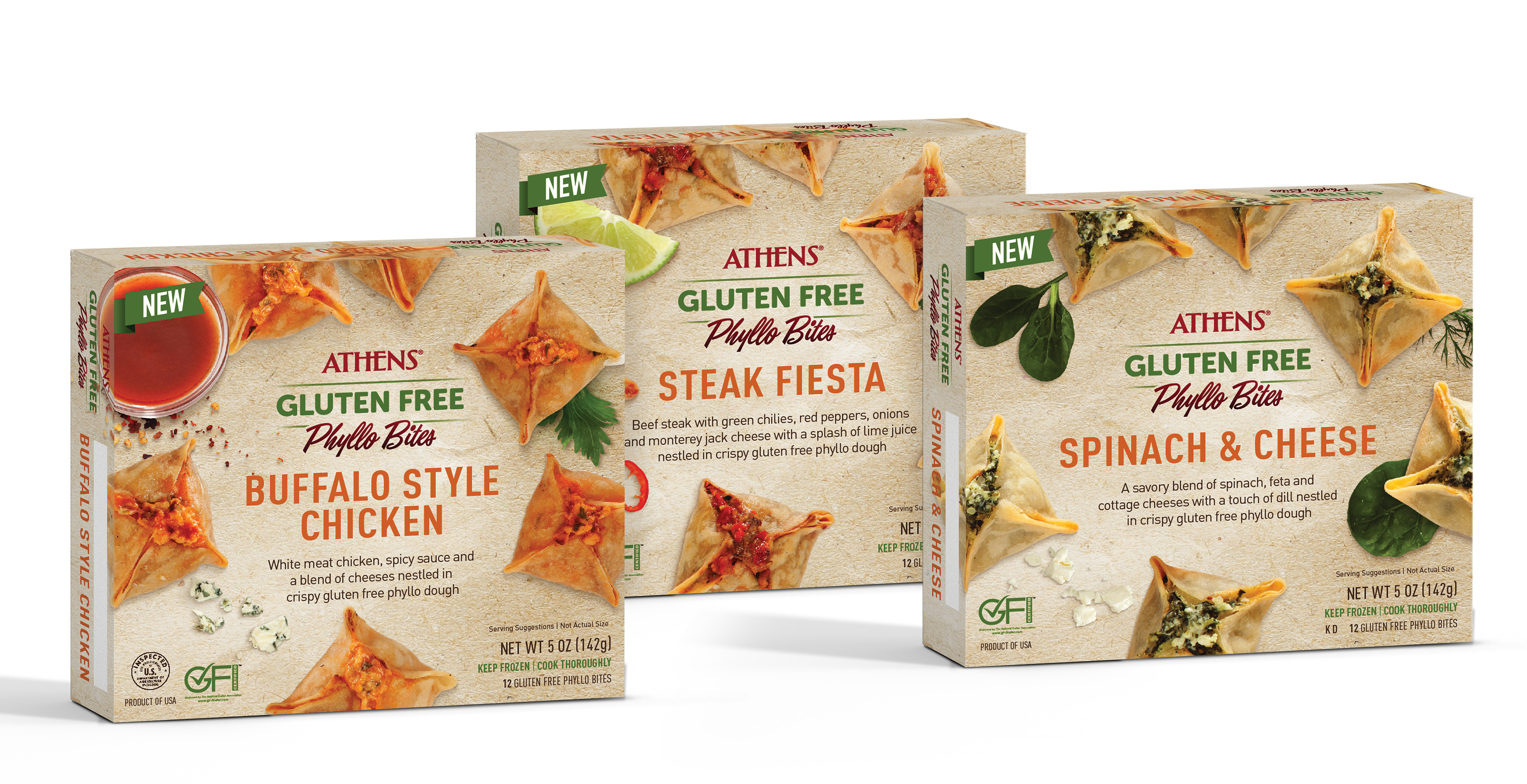 Athens Foods Launches Gluten Free Frozen Phyllo Bites