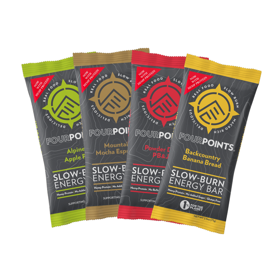 Fourpoints Slow-Burn Energy Bars Go Vegan With Hemp Protein