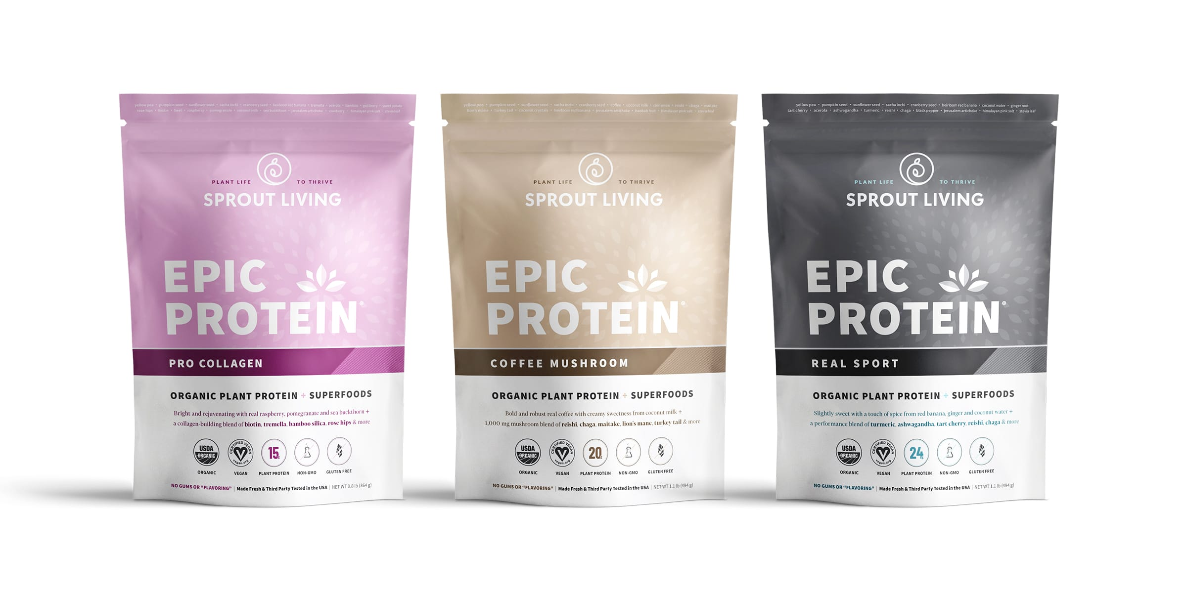 Sprout Living Launches New Superfood-Packed Epic Protein