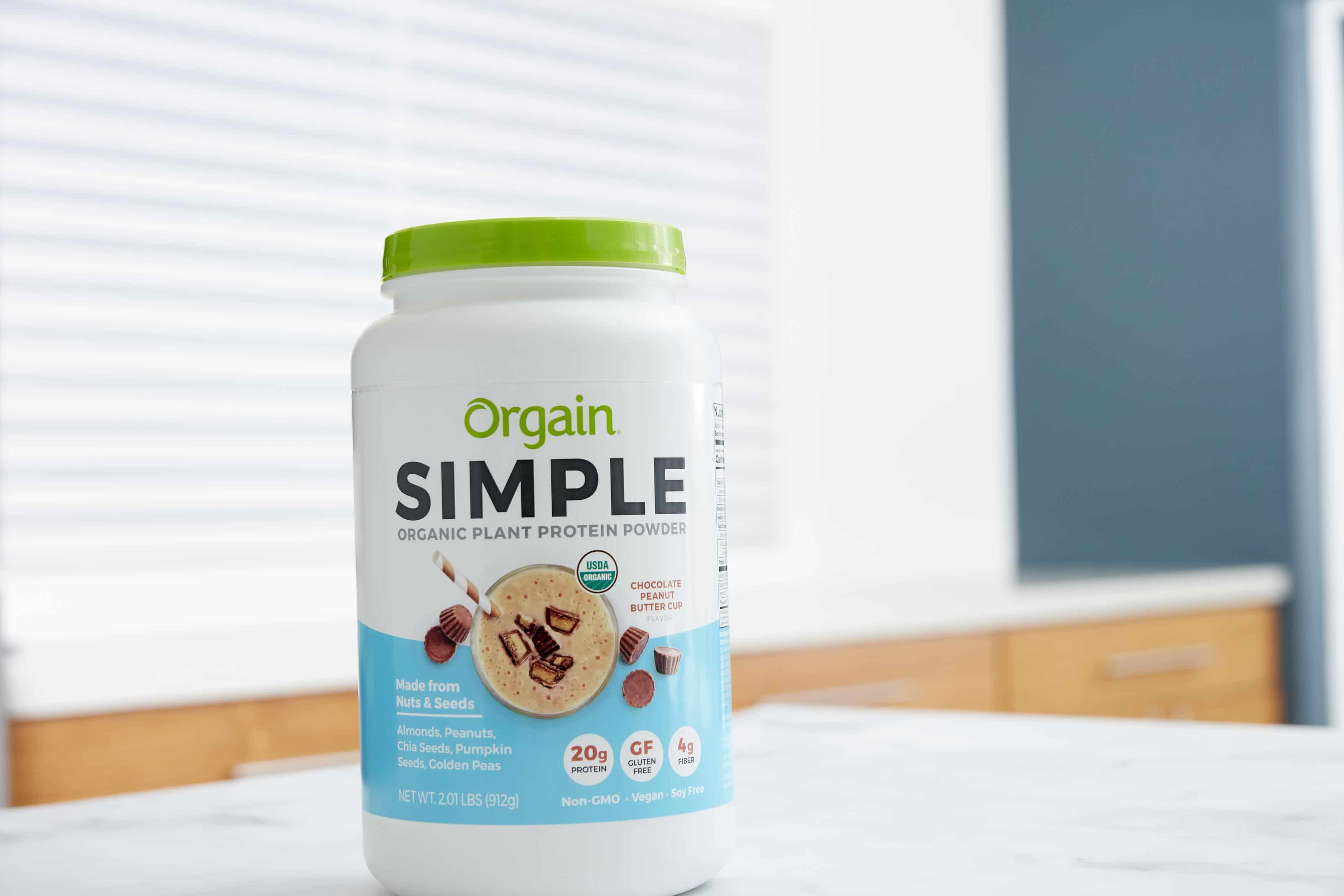 Orgain Launches Simple Organic Plant Based Protein Powder in Chocolate Peanut Butter Cup at Costco